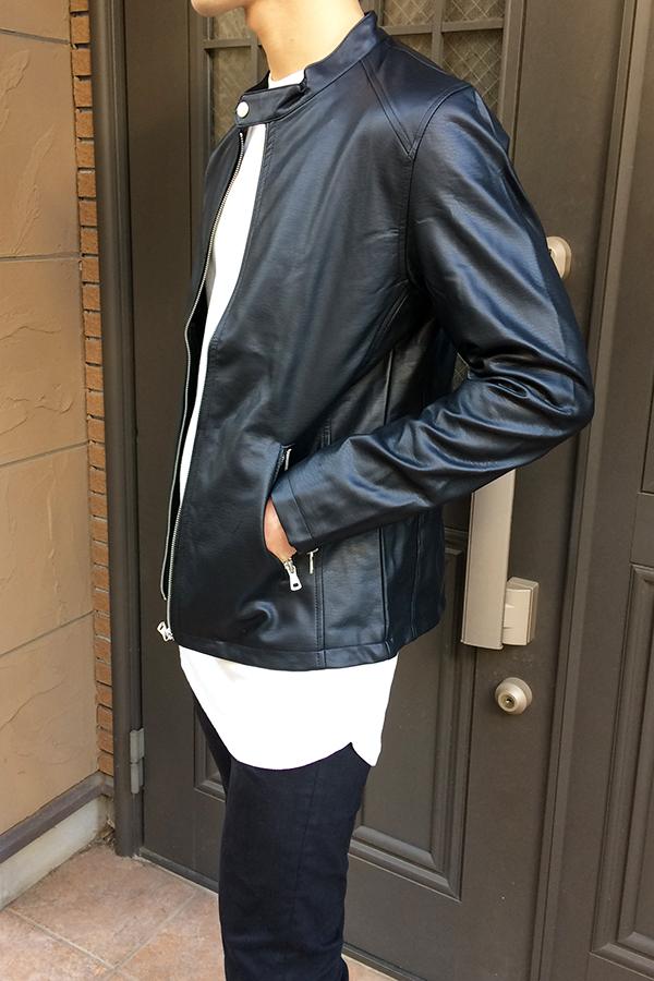 スプートニクスのレザージャケット-着てみた